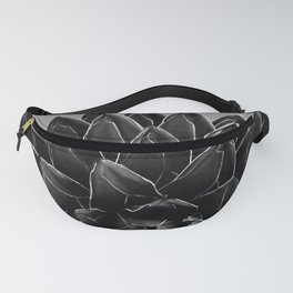 Gray Black Agave Chic #1 #succulent #decor #art #society6 Fanny Pack