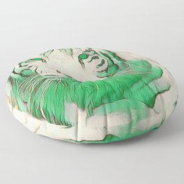 Green Tiger Floor Pillow