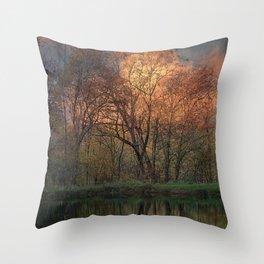 Sunset at White Oak Pond Throw Pillow