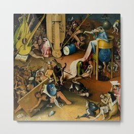 "Hieronymus Bosch ""The Garden of Earthly Delights"" - Hell detail Metal Print"
