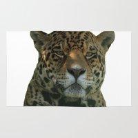 jaguar Area & Throw Rugs featuring Jaguar by Sean Foreman