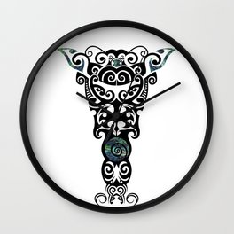 Toi Whakairo Wall Clock