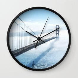 golden gate bridge river Wall Clock