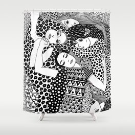 Gustav Klimt - The Virgin Shower Curtain