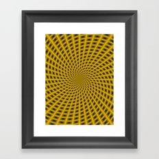 Spiral Rays in Gold Framed Art Print