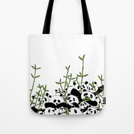 A Pandemonium of Pandas  Tote Bag