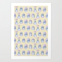 Succulent Yellow Haze Art Print