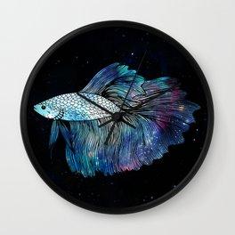 Betta Fish Galaxy Wall Clock