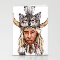 tyler the creator Stationery Cards featuring WOLF / Tyler, The Creator by Daniel Cash