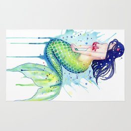 Mermaid Splash Rug