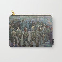 The Round of the Prisoners (after Doré) - Van Gogh Carry-All Pouch
