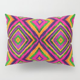 Rainbow Painted God's Eye - Pink Pillow Sham