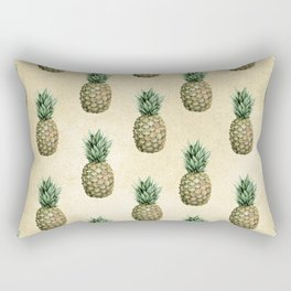 Vintage Pineapple Pattern Linen Rectangular Pillow
