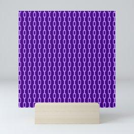 Chainlink No. 1 -- Indigo Mini Art Print