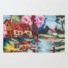 Cross stitch River Rug