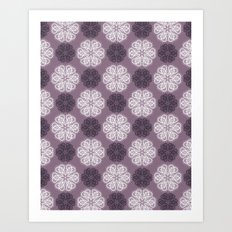 PAISLEYSCOPE posh (purple) Art Print