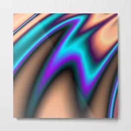 Abstract Fractal Colorways 03 Southwestern Metal Print