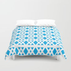 Triangles Pattern (Blue) Duvet Cover