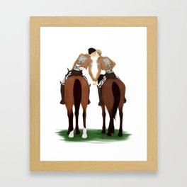 JeanMarco - Horseback Kiss Framed Art Print
