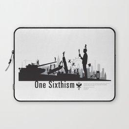 One Sixth Ism (Black World) Laptop Sleeve