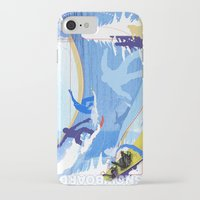 snowboarding iPhone & iPod Cases featuring Snowboarding by Robin Curtiss
