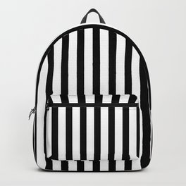 Black & White Small Vertical Stripes- Mix & Match with Simplicity of Life Backpack