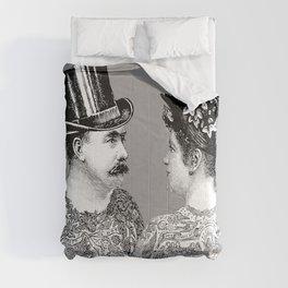Tattooed Victorian Lovers | Tattooed Couple | Vintage Tattoos | Victorian Tattoos | Victorian Gothic Comforters