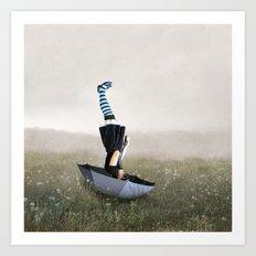 Umbrella melancholy Art Print