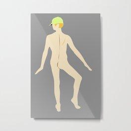 Male Nude Creme 03 Metal Print