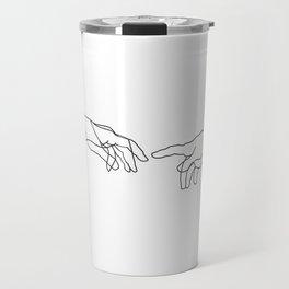Creation of Adam Minimal Drawing Travel Mug
