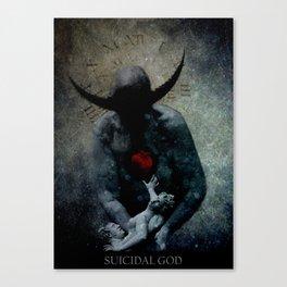 Suicidal God Canvas Print