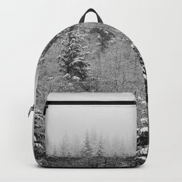 Winter Forest Fir Tree Snow IV - Nature Photography Backpack