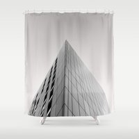 manchester Shower Curtains featuring Parkway Gate, Manchester. by The Edge Collection