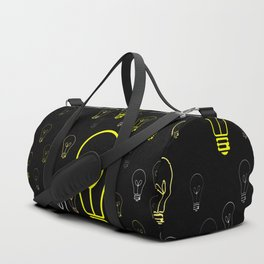 Numerous drawings of incandescent lamps type cartoons Duffle Bag