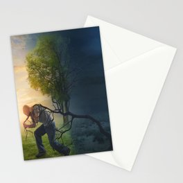Light and Dark Nature Stationery Cards