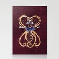 "sailormoon Stationery Cards featuring Steampunk Sailormoon by Barbora ""Mad Alice"" Urbankova"