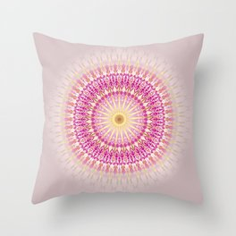 Pink Gold Mandala Throw Pillow