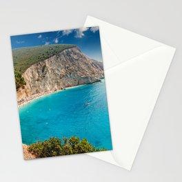The spectacular Porto Katsiki in Lefkada, Greece Stationery Cards