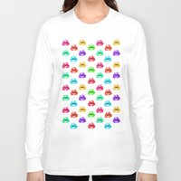 lip Long Sleeve T-shirts featuring Lip Print by Vicky Ink.