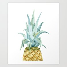 Pineapple Topper Art Print