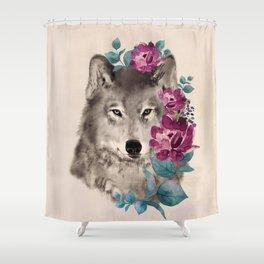 Gently Ferocious Shower Curtain