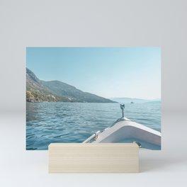 Sailing on the ocean | Corfu, Greece Mini Art Print