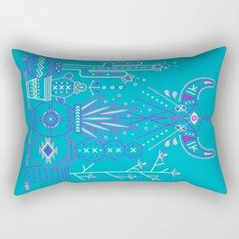 Santa Fe Garden – Blue & Purple Rectangular Pillow