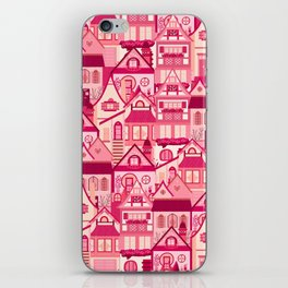 Pink Little Town iPhone Skin