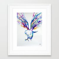 wings Framed Art Prints featuring Achilles by Marc Allante