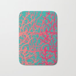 turquoise pink Bath Mat