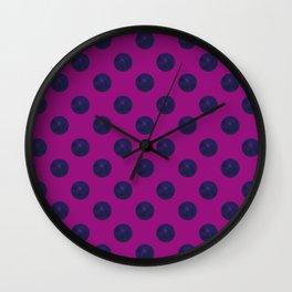 Circle World Deep Space Cerise Wall Clock