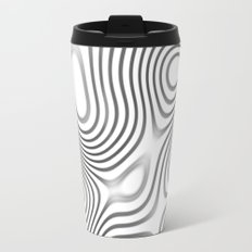 Organic Abstract 01 WHITE Travel Mug
