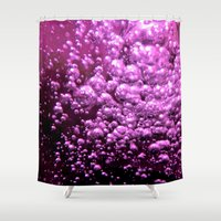 bubble Shower Curtains featuring Bubble by Louise Machado