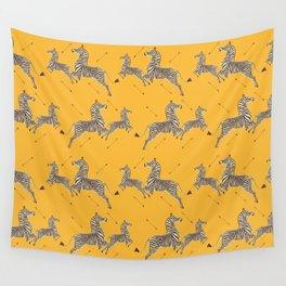 Royal Tenenbaums Zebra Wallpaper - Mustard Yellow Wall Tapestry